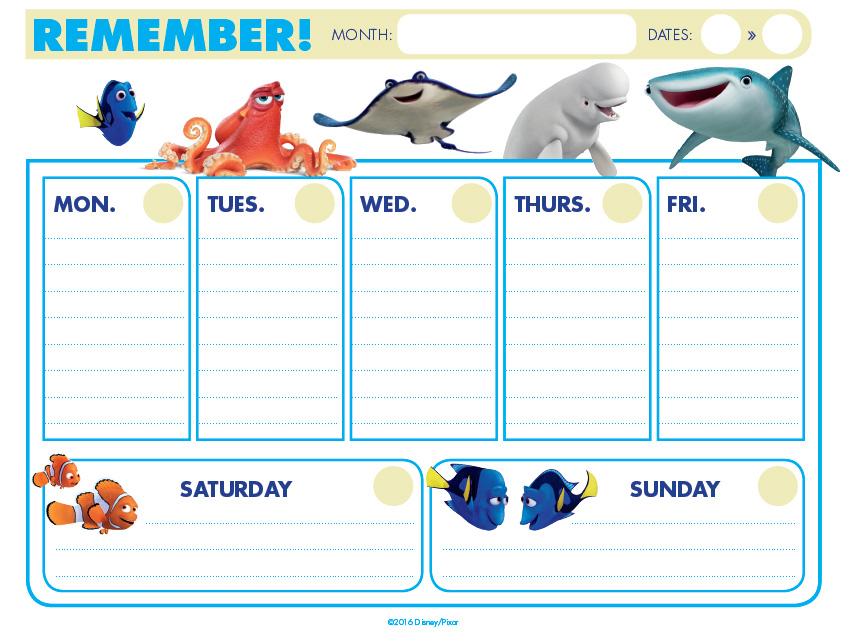 calendario-finding-dory-free-gratis