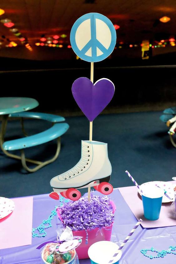 centro de mesa patines soy luna