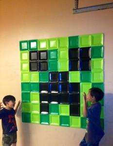 Contruyendo la pared Minecraft