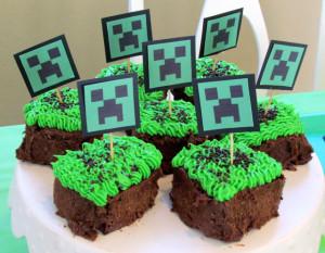 Mini tortas Minecraft