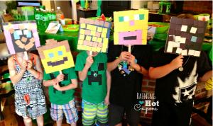 Máscaras Minecraft