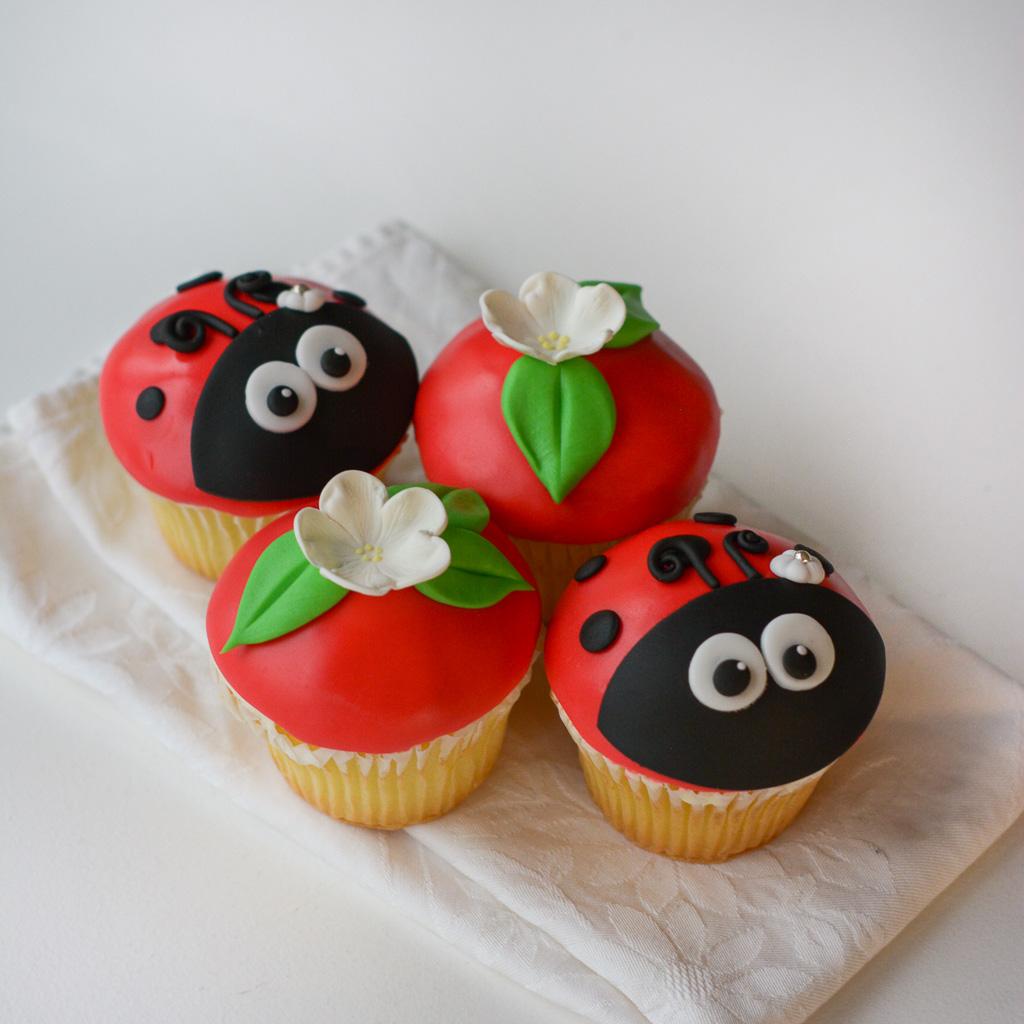 cupcakes miraculous ladybugs decoracion